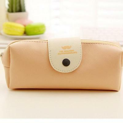 Students Leather Pencil case school Pen Bag Stationery School Home Supplies