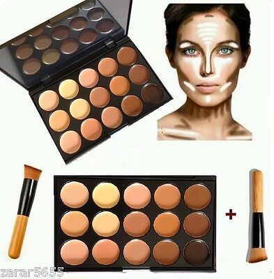 15 Color Concealer and contoour kit with Brush Face cream Makeup, Palette #2