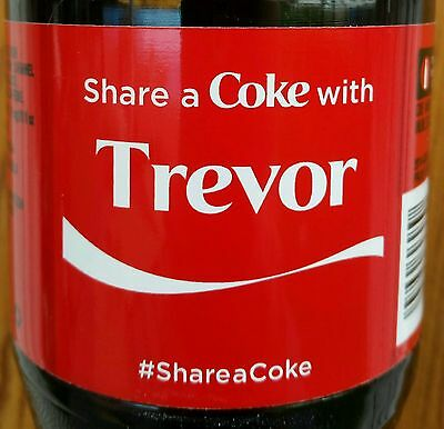 Share A Coke With Trevor Personalized  Coca Cola Collectible Bottle 2015