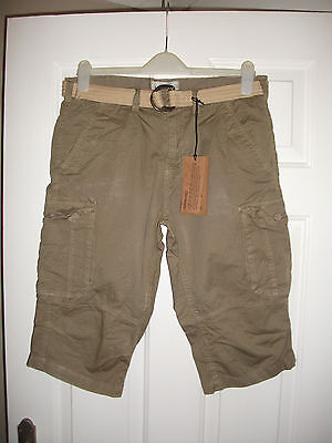 Mens Cargo shorts from Brave Soul size S  waist 34 NEW