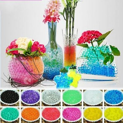 1000x Wedding Decor Crystal Soil Water Beads Mud Grow Pearl shaped Magic Balls