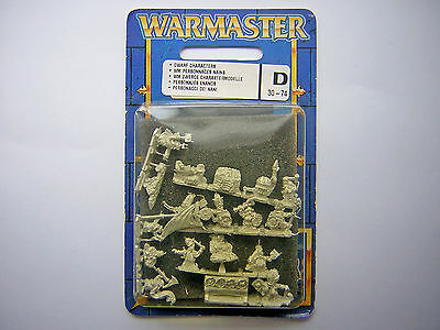 10mm Warmaster Dwarf Characters - General, Runesmith, Heroes in Blister Mint NIB