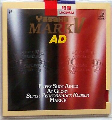 Yasaka Table Tennis Rubber/Sponge: Mark V AD / MarkV AD, MaLin's Back Hand, UK