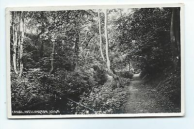 Grand Western Canal at  Wellington Somerset bw Real Photo Postcard.