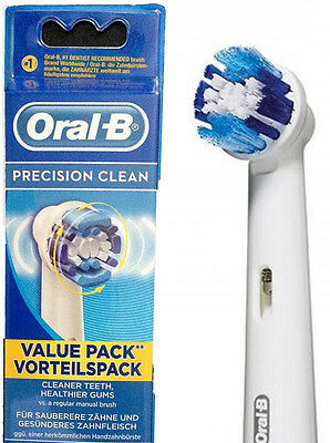 Braun Oral-B PRECISION Electric Toothbrush Replacement Brush Heads 4 Heads.