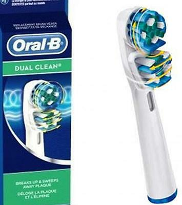 Braun Oral-B DUAL CLEAN Electric Toothbrush Replacement Brush Heads 3 Heads.