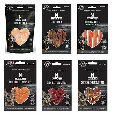 Natural Nosh Dog & Cat Treats Duck, Chicken, Cheese flavour chews from Rosewood