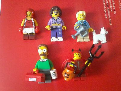 Lego series 13-16 and simpsons series 1 figures x5 (uk bids only)