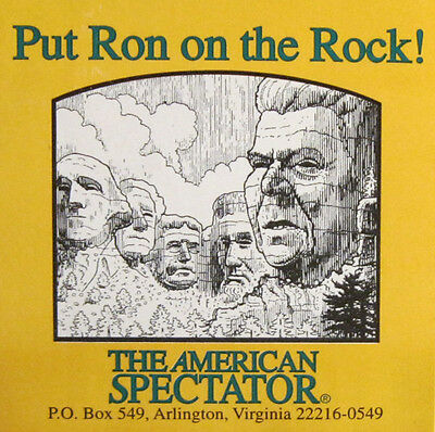 Ronald Reagan Put Ron On The Rock American Spectator Sticker Decal Vintage