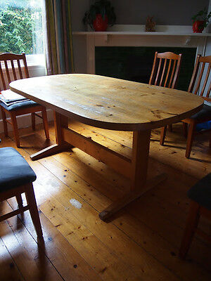 Rustic Vintage Pine Dining Table