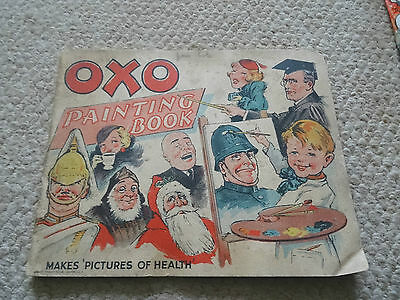 1920/30S Original Oxo Painting Book, Makes Pictures Of Health Advertising Book