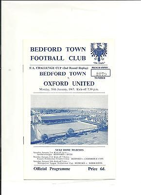 1966/67 FA Cup 2nd round replay  Bedford Town v Oxford United