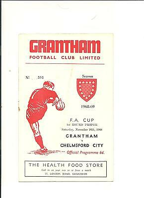1968/69 FA Cup  1st round  Grantham v Chelmsford City