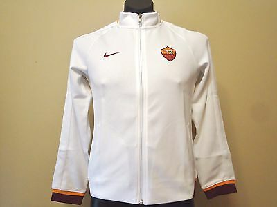 Roma Official Licensed White Nike Jacket 15/16 Xl Boys New