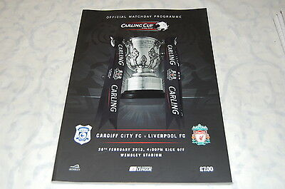 Carling Cup Final Programme - Wembley 2012' Liverpool Vs. Cardiff City