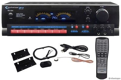 Technical Pro 1500W Professional Audio Stereo Receiver System Pre Amp Amplifier