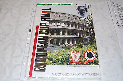 European Cup Final Programme - Rome 1984' Liverpool Vs. Afc Roma