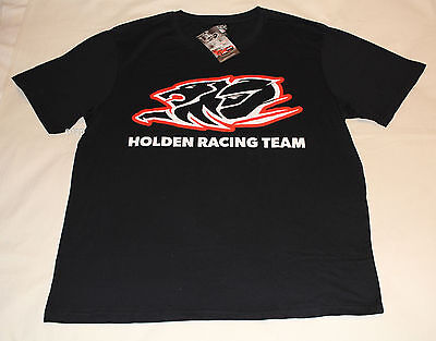 Holden Racing Team Logo Mens Black Printed Short Sleeve T Shirt Size XXL New