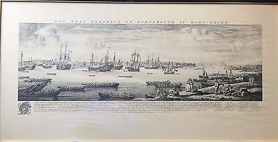 Framed Vintage Panoramic Print: Nelsons Fleet at Portsmouth by Sam & Nathan Buck