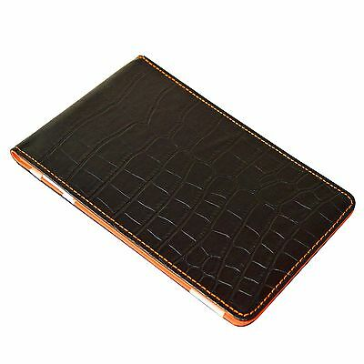 On Par Crocodile Scorecard Holder - Black & Orange