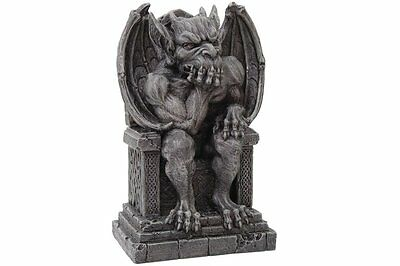 Gargoyle on Throne Statue Cold Cast Resin Figurine