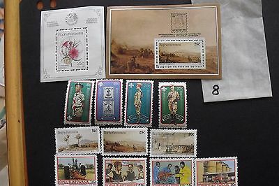 A collection of stamps from Bophuthatswana