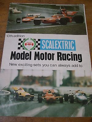 SCALEXTRIC 1972 13th Edition Catalogue with 1972 Price List ORIGINAL