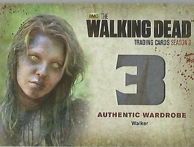 "Walking Dead Season 3 Part 2 - W6 ""Walker's"" Wardrobe Card (MINT)"