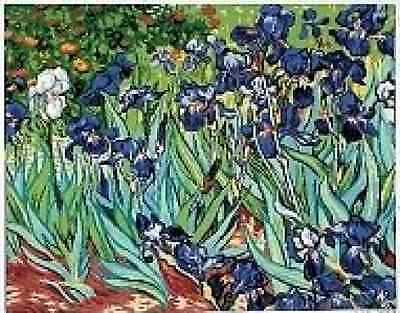 Irises Flowers Tapestry Canvas Needlepoint By V Van Gogh Royal Paris