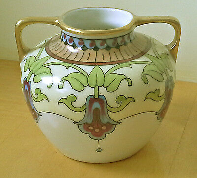 Pretty Limoges vase with fuchsia decoration