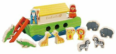 Everearth Wooden Noahs Ark With Characters