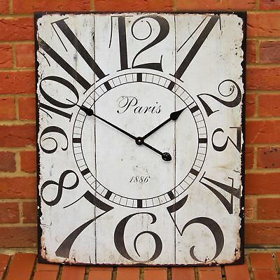 Large Square Vintage Style Metal Wall Clock 58Cm X 70Cm