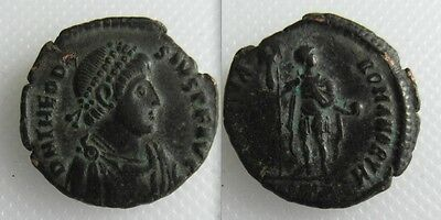 Collectable Roman Bronze Coin Of Theodosius I - Minted Antioch