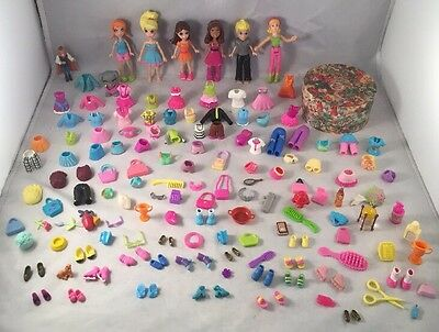 Polly Pocket Bundle Figures Dolls, Accessories Clothes, Shoes Etc