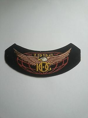 HOG 1992 Harley Davidson Owners Group biker patch badge iron on or sew on RARE