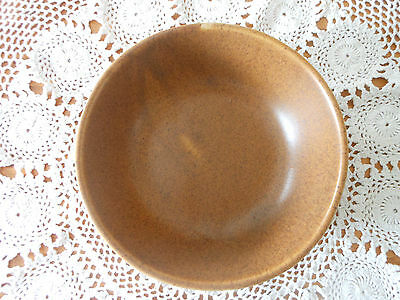 """*Monmouth Mapleleaf Vegetable Bowl 8.75"""" Round Brown Speckled* Made In USA!!!"""