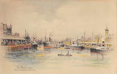 BR80508 the river clyde from george V bridge ship  glasgow  postcard scotland