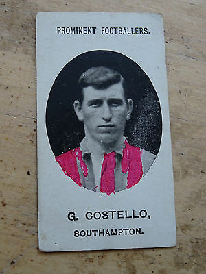 Taddy & Co Grapnel Mixture Prominent Footballer Card G Costello Southampton