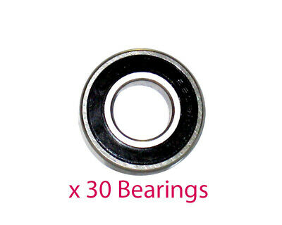 Pack of 30 x 6200 2RS Stub Axle Bearings 10mm x 30mm x 9mm