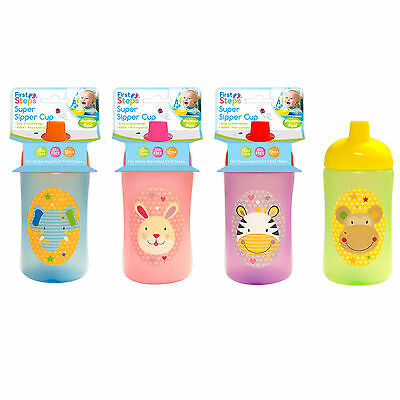 First Steps Jungle Pals Super Sipper Cup baby toddler Bottle 400ML BPA Free