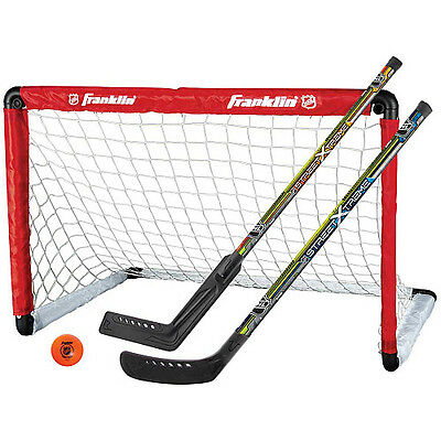 Franklin Nhl Youth Hockey Goal And 2 Stick Set