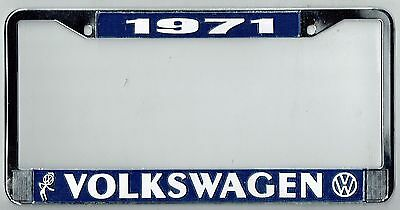 1971 Volkswagen VW Bubblehead Vintage California License Plate Frame BUG BUS T-3