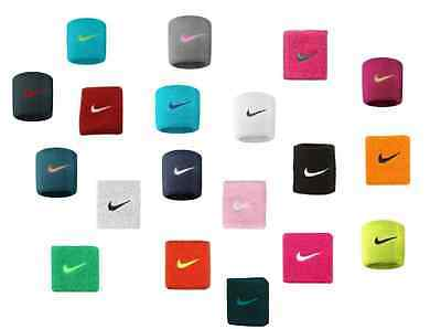 Nike Swoosh Wrist Band 1 Pair Wristbands - Tennis Badminton Sports - All Colours