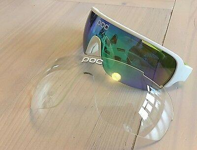 POC DO Half Blade Hydrogen White/Cannon Green Cycling Glasses