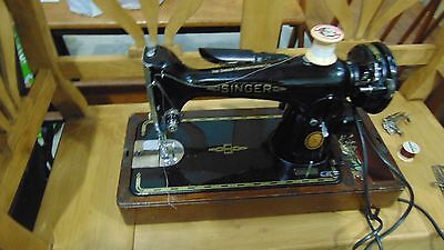 Vintage electric Singer Sewing Machine - Boxed