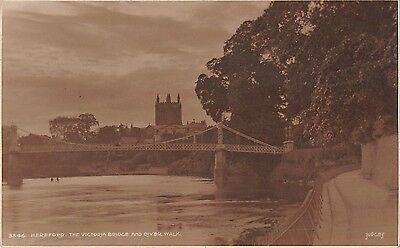 BR68917 hereford the victoria bridge and river  uk judges 3546 real photo