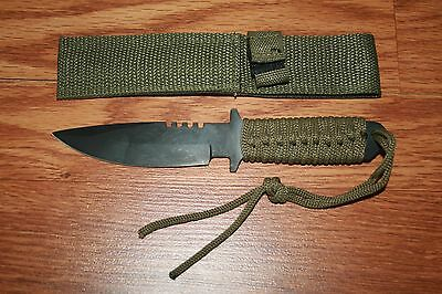 12 New Wholesale Lot Fixed Blade Tactical Survival Knife Para-Cord Handel Deal