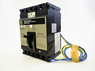 SQUARE D FAL360151212 15A 3P 600V Series FAL Molded Case Breaker w/ Aux Switch