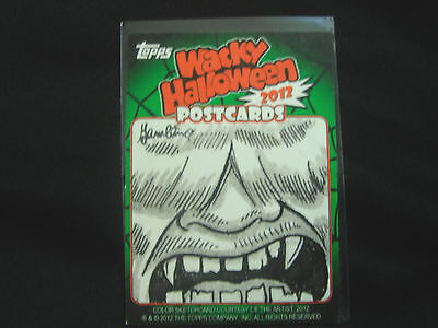 Wacky Packages postcards 2012 Halloween limited sketch card no. 308 NEW