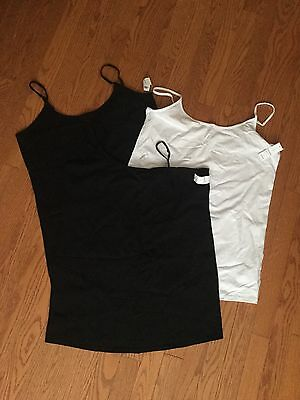 Old Navy Maternity Black And White Tank Tops Size Large NWT
